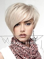 Cheap Modern Cool Sexy Short Bob Cut Platinum Blonde Wig Makes You More Attractive free shipping