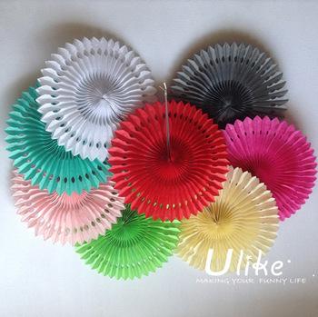 12inch 100ps Mixed Color Honeycomb  Flower lantern Fan design paper lanterns foldable lantern Tissue fans Craft idea Cute Party