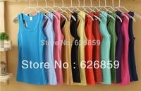 013 women's thread 100% cotton ultra long spaghetti strap basic vest free shipping 002 Comfortable fabric