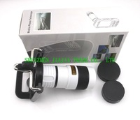 White Universal 8x 8 x Zoom Optical Telescope Camera Lens Len For Samsung HTC LG NOKIA Mobile Phone +Holder retail box