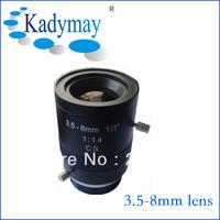 "2013 Popular 1/3"" CS, F1.4 3.5-8mm Lens for Camera Iris CCTV Camera Lens"
