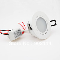 1pcs 3w 3x1w  Thick Aluminum LED Recessed Ceiling Light Lamp Down light Bulb 85-265v White/Warm white Color For Choice