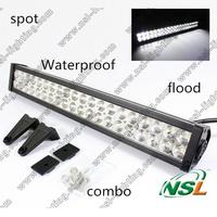 24 inch IP68 Waterproof 10200LM Spot/Flood/Combo 120W LED work light bar TRUCK,CAR,4X4,BOAT,BUS Offroad driving light bar 10-30V