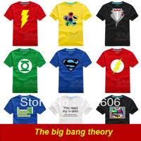 2013 cool The Big Bang theory Bazinga Sheldon Cooper The Evolution Of Man Geek Logo T shirt 6color 6 size Free shipping