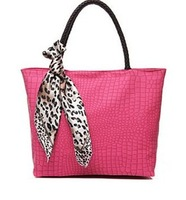 2014 women's handbag stone pattern fashion leopard print silk scarf picture package handbag big bags