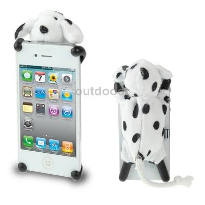 Marca tridimensional pelúcia cachorro boneca protegido caso novo para o iPhone 4 4S