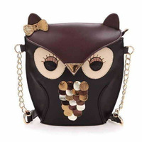 2014 New Fashion Novetly Owl Shaped Women Handbags/Brand Faux Leather Chain Women Shoulder Bags/Designer Handbags Women Bags