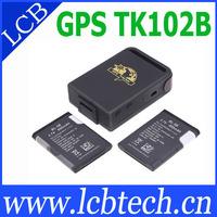 Original Coban Mini TK102B GPS Tracker 4 band Memory slot shock sensor full accessories! free shipping