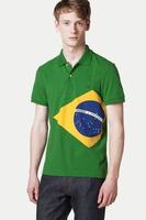 EU size !!! LAC*** Men Brazil Flag Tshirt,Original L.A.C. Men CASUAL tshirt /100% cotton/NO Shrinking and Fade
