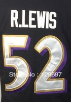 Free Shipping #52 Ray Lewis new Men's Game American Football Jersey,Embroidery and Sewing Logos,Size S--3XL, Accept MIx Order