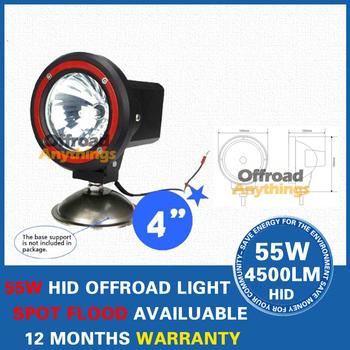 "16 Pcs 12V 55W 4"" Spot Beam truck/Boat fog lamp hid driving lights HID off road light xenon work lighting"