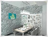 450cm Wide 5 Meter Zebra Stripe Print Wallpaper Self-Adhesive Paper Diy PVC Renovation Paper Home Decoration Furniture Sticker
