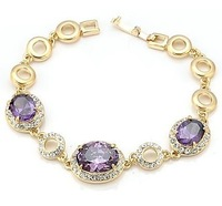 Free Shipping 2013 NEW Neoglory beautiful jewelry   purple zirconocene classical bracelet made with SWA ELEMENTS crystal xgc6415