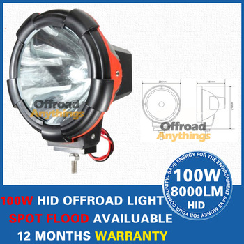 "8 Pcs 55W 7"" Spot beam & Flood beam 100W HID 12V 8000 Lm HID Driving light, HID spot light, HID offroad 4x4, hid headlight ,boat"