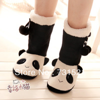 Panda floor slippers, plush boots at home, keeping warm
