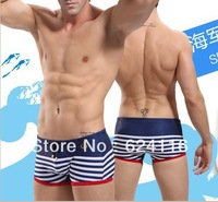 M20 Promotion Gift New Fashion Hot Nice Anchor Swimming Swim Trunks Shorts for Men Slim Super Sexy Swimwear  Blend Striped