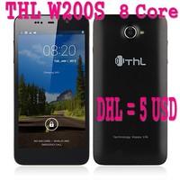 [DHL 5 USD Free] THL W200S W200 MTK6592 Octa Core Phone Android 4.2 5.0'' HD Screen 1280*720 Dual Sim 1G RAM+32G ROM 8MP