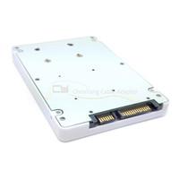 "50mm Mini PCI E mSATA SSD to 7mm 2 5"" SATA 22Pin Hard Disk Case Enclosure White"