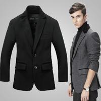 Autumn and Winter Cashmere Suit Jacket Men Business Style Wool Suit Jackets For Men 2 Color M/L/XL/XXL Free Shipping