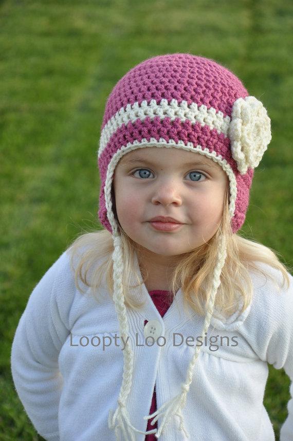 free shipping,Cute Gorgeous Newborn Baby Child Knit Hat Beanie Pink Hat Pink Flower(China (Mainland))