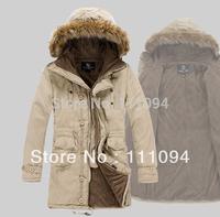 2014 hot sale Men's Winter Overcoat windproof Outwear thick warm jacket outdoor wearing 3 colors coats for men winter