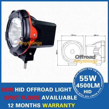 "16 Pcs 12V 55W 4"" H3 6000K HID Offroad Light 4x4 HID Xenon Driving Light HID Car Spotlight 4""xenon 6000k Hid Spotlights"