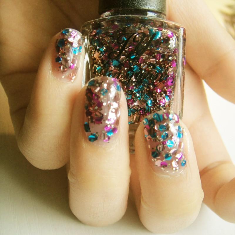 Jy sparkling nail polish oil multicolour large paillette colorful(China (Mainland))