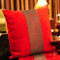 #586 2013 new luxury velvet silver plating bead 45cm pillow cushion cover case  min1pcs freeshipping