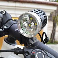 Free Shipping 3800LM 3xCREE XML XM-L T6 LED Bicycle Bike Head Light Lamp 1x8.4v 7200mAh Battery Pack 1PCS NEW