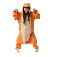 Halloween Sesame Street Charmander Fire Dragon Adult Animal Onesies Pajamas Jumpsuits Homewear Couple Wear Cosplay Costumes