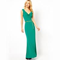 2013 new fashion women evening dress gown slim green formal dresses spaghetti strap banquet fish tail long black XXL party cloth