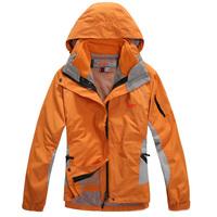 FZ709205  new arrival woman winter jacket Outdoor sports coat ladies Waterproof breathable windproof 2in1 hoodies female coat