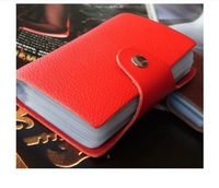 Promotion-2013 New Fashion Genuine Leather buckle Credit Card wallet Men ID Name Card Holder  business card case for gift HXY093