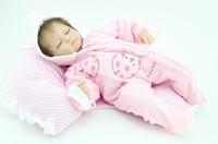 18 inches Soft sleeping newborn baby doll handmade lovely silicone vinyl reborn baby doll realistic child gift
