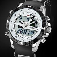 Brand Weide Men's Military Analog Digital Watch Dual Time Led Digital Analog Quartz Wrist Sports Watch Chronograph 1104