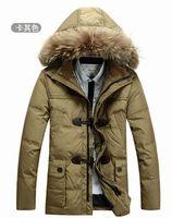 Free Shipping Winter Super Warm Man's Long Down Jacket Fashion Korea Style Down Coat Winterwear White Duck Down M-3XL JK-158