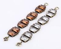 Free Shipping 2013 New Arrival Vintage Geometrical Irregular Square Crystal Bracelet,JP072218