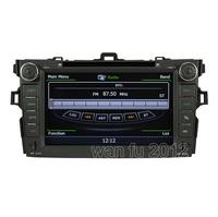 1080P A8 chipset S100  DVD GPS navigaiton radio headunit  3G/WIFI Internet 2007-2012 Toyota Corolla