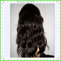 Virgin Peruvian wig ,natural black Full lace human hair wigs ,long curly wig