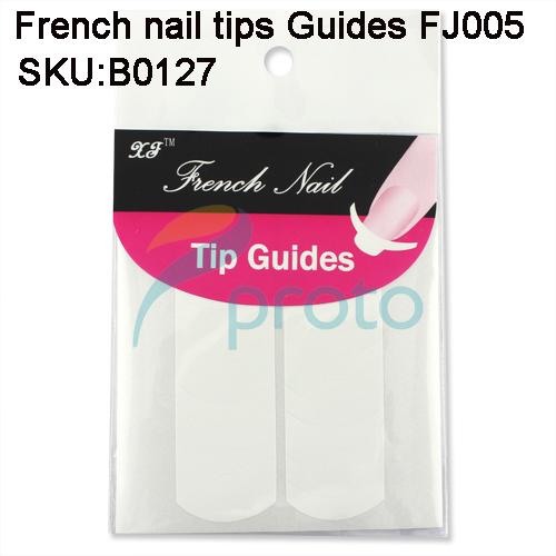 100PCS Nail Art French Nail Tip Guides Sticker FJ005 For DIY Stencil Wholesales SKU: B0127XX(China (Mainland))