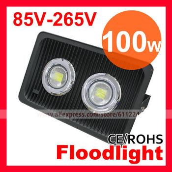 Free Shipping High Power 100W LED Floodlight  Lamp AC85V-265V Flood Light  Outdoor Light