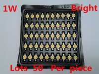 Freeshipping High bright led lighting beads 35 smd led light emitting diode 1w high power led chip 1w natural white 168