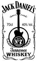 Top Quality  OEM Brand Jack Daniels Guitar 100% Cotton Loose Printed T-shirt Shirt Tee Dress Camiseta