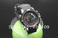 Fashion Men's Military Dive Swim Watch Dual Time Movement Backligt led Digital Analog Quartz Waterproof Sports Wrist Watch