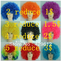 free shipping Afro wig football fans Party halloween cosplay Christmas/festival use Football Fan Adult Child Costume Curly Wig