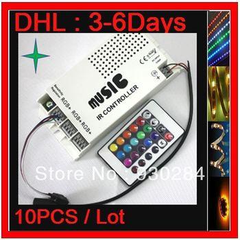 10PCS Lots Profile Play DC12V Input Midi Music Christmas  LED RGB IR Cut Remote Digital Controller 12v 5A 60W Flash Light LED