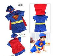 """New baby Boys Swimwear kid boys swimsuit bathing suit """"super boy"""" A009"""