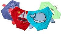 New baby Boys Swimwear kid boys swimsuit bathing suit embroidery cute animal size: 18M-3 T