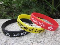 League of Legends wristband, silicon bracelet, custom design wristband,3pcs/lot,free shipping