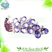 Free Shipping New ! Hot sale Crystal and Alloy Peacock  Lady's Hair Barrettes/ Lady's hair clip